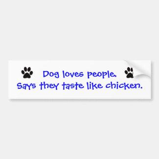 Pegatina para el parachoques - el perro ama a gent pegatina para auto