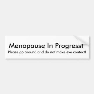 Pegatina para el parachoques en curso de la menopa etiqueta de parachoque