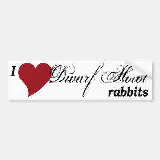 Pegatina para el parachoques enana de los conejos