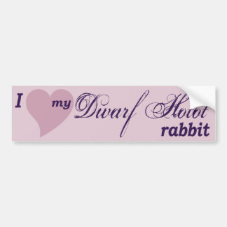 Pegatina para el parachoques enana del conejo de H
