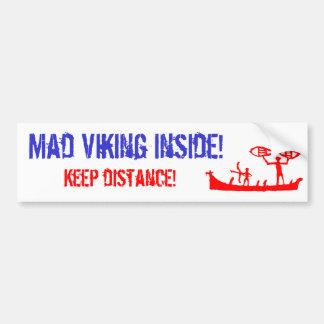 Pegatina para el parachoques enojada de Viking Pegatina Para Auto