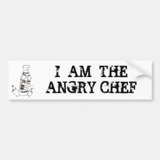 Pegatina para el parachoques enojada del cocinero pegatina para auto