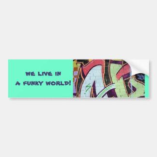 pegatina para el parachoques enrrollada del mundo pegatina para auto