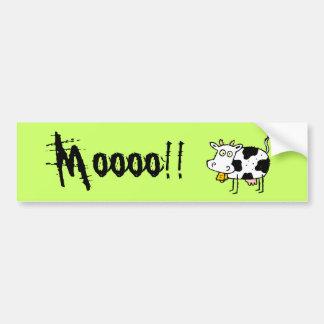 ¡Pegatina para el parachoques enrrollada Moooo de Etiqueta De Parachoque