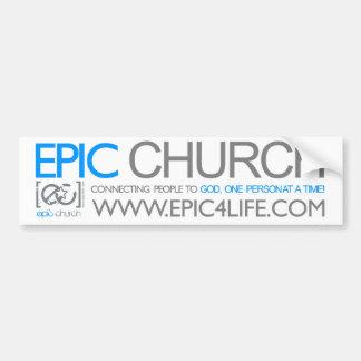Pegatina para el parachoques épica de la iglesia etiqueta de parachoque