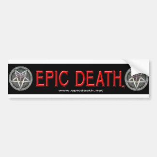 Pegatina para el parachoques épica de la muerte etiqueta de parachoque