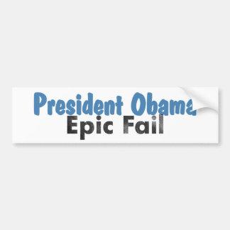 Pegatina para el parachoques épica del fall de Oba Etiqueta De Parachoque