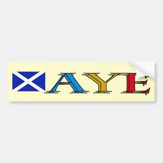 Pegatina para el parachoques escocesa de la