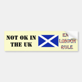 Pegatina para el parachoques escocesa de la regla  etiqueta de parachoque