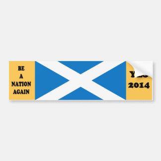 Pegatina para el parachoques escocesa sí 2014 de l pegatina de parachoque