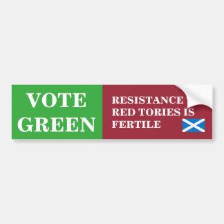 Pegatina para el parachoques escocesa verde de la