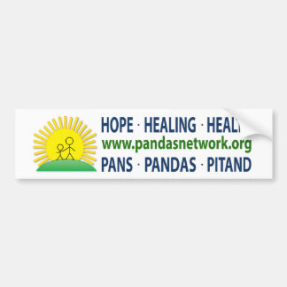 Pegatina para el parachoques - esperanza, curando, etiqueta de parachoque