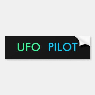 Pegatina para el parachoques EXPERIMENTAL del UFO Pegatina Para Auto