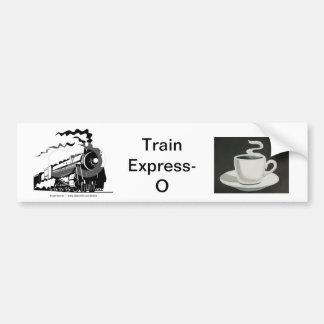 Pegatina para el parachoques Expresa-o del tren Pegatina Para Auto