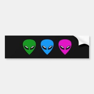 Pegatina para el parachoques extranjera del UFO Pegatina Para Auto
