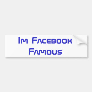 Pegatina para el parachoques famosa de Facebook Pegatina Para Auto