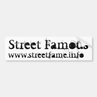 Pegatina para el parachoques famosa de la calle pegatina para auto