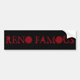Pegatina para el parachoques famosa de Reno Pegatina Para Auto