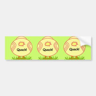Pegatina para el parachoques feliz de los patos de etiqueta de parachoque