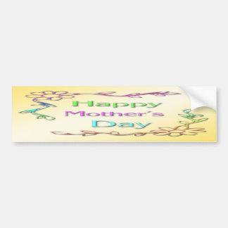 Pegatina para el parachoques feliz del día de madr pegatina de parachoque