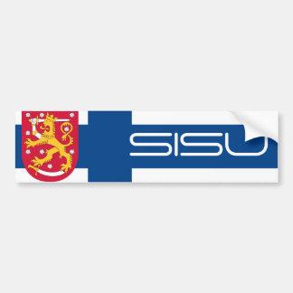 Pegatina para el parachoques finlandesa de Sisu/de Pegatina De Parachoque