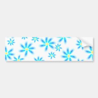 Pegatina para el parachoques floral azul de la div pegatina para auto