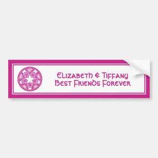 Pegatina para el parachoques floral de las tejas d pegatina para auto
