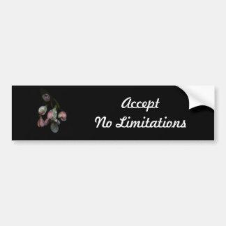 Pegatina para el parachoques floral de motivación pegatina para auto