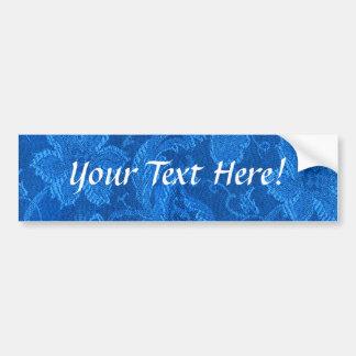 Pegatina para el parachoques floral del azul del z pegatina para auto