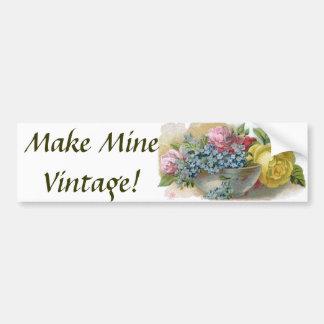 Pegatina para el parachoques floral del vintage co pegatina para auto