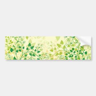 Pegatina para el parachoques floral verde de la pr pegatina para auto
