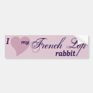 Pegatina para el parachoques francesa del conejo d etiqueta de parachoque