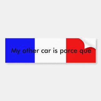 Pegatina para el parachoques francesa del retruéca pegatina para auto