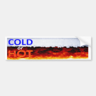 Pegatina para el parachoques fría o caliente pegatina para auto