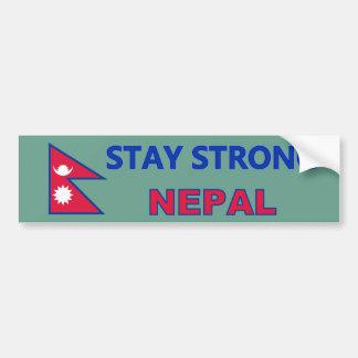 Pegatina para el parachoques fuerte de Nepal de la Pegatina Para Auto
