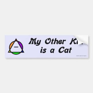 Pegatina para el parachoques - gato pegatina de parachoque
