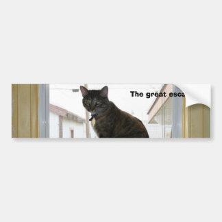Pegatina para el parachoques, gato de calicó pegatina de parachoque