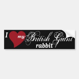 Pegatina para el parachoques gigante británica del etiqueta de parachoque