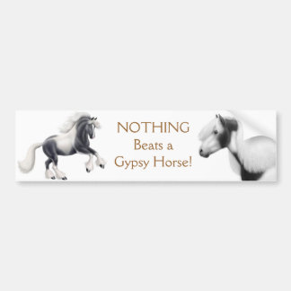 Pegatina para el parachoques gitana del caballo de etiqueta de parachoque