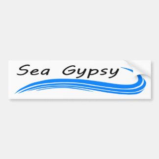 Pegatina para el parachoques gitana del mar - azul pegatina para auto