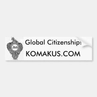 Pegatina para el parachoques global de la ciudadan pegatina para auto