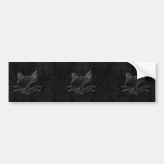 Pegatina para el parachoques gótica del mún negro  pegatina de parachoque