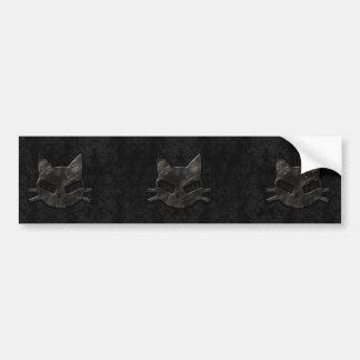 Pegatina para el parachoques gótica del mún negro  pegatina para auto