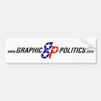 Pegatina para el parachoques gráfica de la polític pegatina para auto