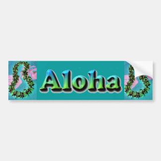 Pegatina para el parachoques hawaiana de los leus  pegatina para auto
