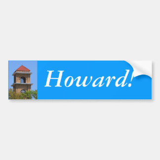 Pegatina para el parachoques:  ¡Howard! Pegatina Para Auto