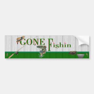 Pegatina para el parachoques ida de Fishin Etiqueta De Parachoque