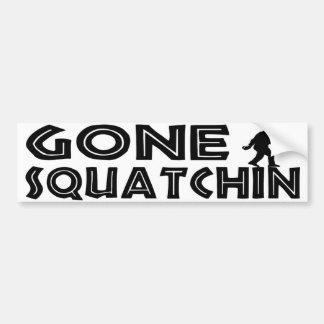 Pegatina para el parachoques ida de Squatchin Etiqueta De Parachoque