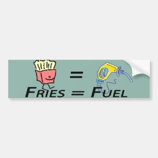 pegatina para el parachoques igual del combustible pegatina para auto