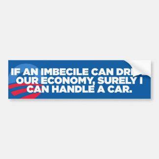 Pegatina para el parachoques imbécil de Obama Pegatina Para Auto